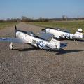 P-47 Thunderbolt Staffel kurz vor dem Takeoff