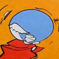 Ohne Titel, Acryl-/Mischtechnik auf Leinwand, 100 x 80 cm