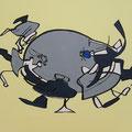 Ohne Titel, Acryl-/Mischtechnik auf Leinwand, 80 x 100 cm