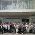 Les participants devant le Centre Pompidou