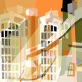 ÜBERLAGERUNG DETAILS I   2003   -   Acrlfarbe auf LW   -   1,6m x 1,6m