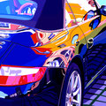 Porsche 7 -  2015   Acrylfarbe auf LW  -   1,6m x 1,6m
