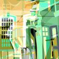 ÜBERLAGERUNG DETAILS II   2004   -   Acrlfarbe auf LW   -   1,6m x 1,6m