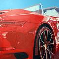 Porsche 21 -  2016   Acrylfarbe auf LW  -   1,4m x 1,7m