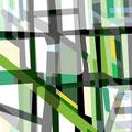 FACHWERKREIHE ÜBERLAGERUNG II   2004   -   Acrlfarbe auf LW   -   1,3m x 1,3m