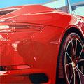 Porsche 22 -  2016   Acrylfarbe auf LW  -   1,4m x 1,4m