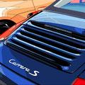 Porsche 24 -  2017   Acrylfarbe auf LW  -    1,2m x 1,6m