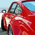 Porsche 32 -  2018   Acrylfarbe auf LW  -    1,8m x 1,6m