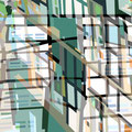 FACHWERKREIHE ÜBERLAGERUNG IV   2004   -   Acrlfarbe auf LW   -   1,6m x 1,6m