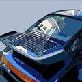 Porsche 33 -  2016   Acrylfarbe auf LW  -    1,4m x 1,7m