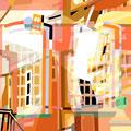 ÜBERLAGERUNG DETAILS III   2004   -   Acrlfarbe auf LW   -   1,6m x 1,6m