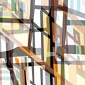 FACHWERKREIHE ÜBERLAGERUNG III   2004   -   Acrlfarbe auf LW   -   1,3m x 1,3m