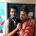 Backstage als Fred mit Ronny Rindler (Costa)