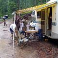 翌朝から雨に見舞われキャンプ撤収