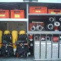 Geräteraum 2 (Pressluftatmer, Armaturen, Schlauchmaterial)
