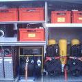 Geräteraum 1 (Pressluftatmer, Notstromaggregat, Scheinwerfer)