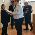 27. Janauar: Auszeichnung mit der Ehrennadel der Thüringer Jugendfeuerwehren in Bronze für unsere Kameradin Ina Drachsler