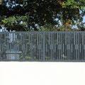 Etude et réalisation de grille de clôture, motif personnalisé découpé au laser