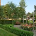 Die deutsch-französische Gartenanlage vor dem Bischofshof