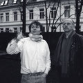 Mit Günter Wallraff bei Panfoto in Hamburg - 1996