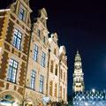 Place des Héros et Hôtel de Ville de nuit