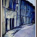 Forcalquier au couchant, Provence