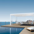 BAVONA TP6500: frei stehender Pavillon oder mit Anschluss direkt an der Fassade. Erweiterbar mit Schiebeverglasung.