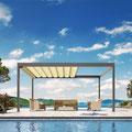 BAVONA TP6100: Die regendichte Faltmarkise verbreitet mediterranen Charme und sorgt für Open Air Stimmung.