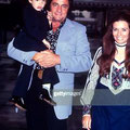 June Carter Cash with her husband Johnny Cash and her son John Carter Cash; circa 1970; New York