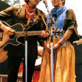 Bob Dylan & Joan Baez in the 60s.