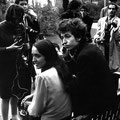 Bob Dylan & Joan Baez - Thames Embankment gardens, London 27 AprilL 1965.