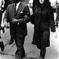 Grenada, Mississippi, 1966- Martin Luther King and singer Joan Baez marching to the Grenada, Mississippi school that was being integrated.