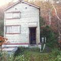 紅葉の中のゴマ平小屋