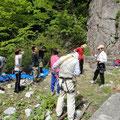 登る前に、基本説明を受ける。