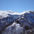 長倉山から白山方面。