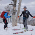 スキー場リフト最上(青柳山の山頂)