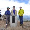 大旭岳の山頂にて。