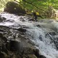快適なナメ滝群。