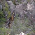 落ケ滝。水量が多い時にもう一度見てみたい。