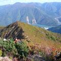 鶴平新道を下山
