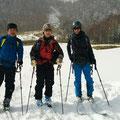 乗鞍大雪渓Webサイトの管理人さんと記念写真。