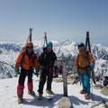 唐松岳頂上。