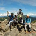聖岳山頂。