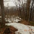 キャンプ場方面の下山道。