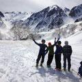 本日の山スキー、満足、満足。