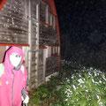 あまりの眠さに奥長倉避難小屋で10分間だけ仮眠、午前4時