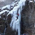 「犬殺しの滝」ツララを登るのは難しい、痺れました。