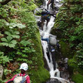 中ノ又谷の滝 快適な滝登り