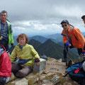 カムイエチウカウシ山山頂にて