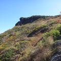 ようやく三方岩岳が見えてきました。